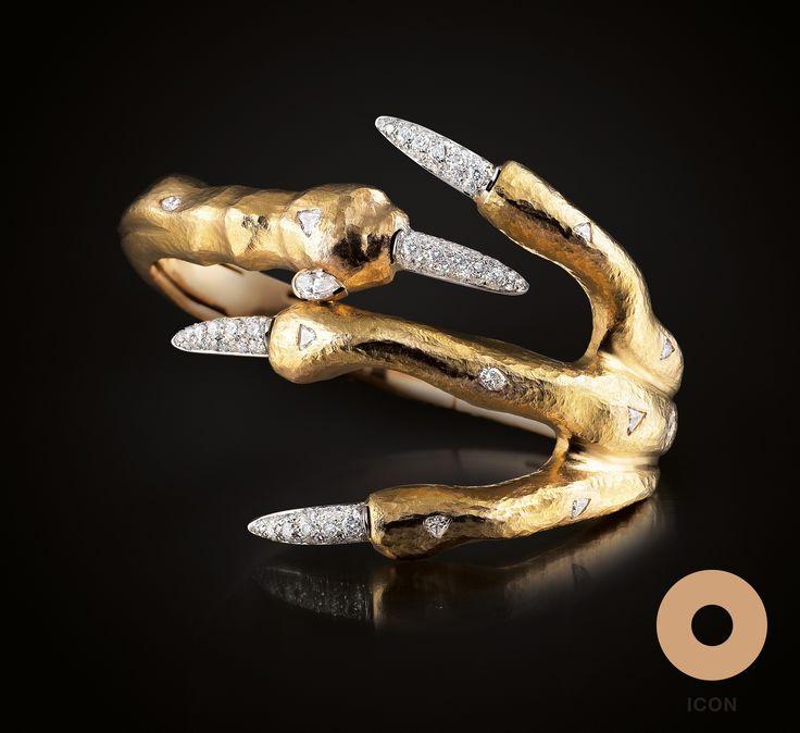 Claw cuff #bracelet by Paolo Piovan Gioielli - #PaoloPiovan