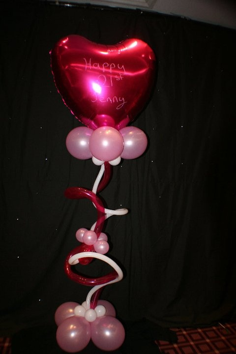 Twisty Heart Balloon for any occasion