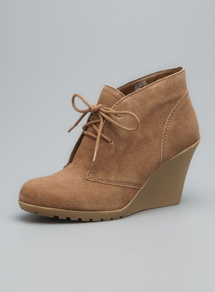 Icon Suede Wedge Bootie