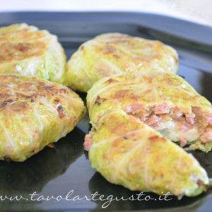 Involtini+di+verza+con+salsiccia+e+scamorza