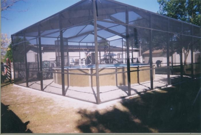 Above Ground Pool Screen Enclosures Google Search