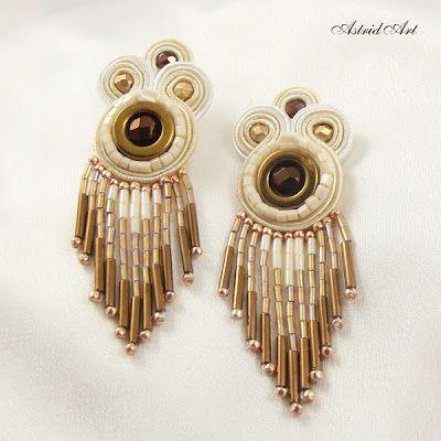 fringe - soutache earring
