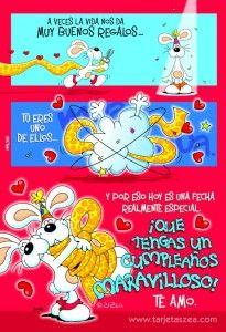 tarjetas de cumpleaños para mi novio - feliz cumple amor