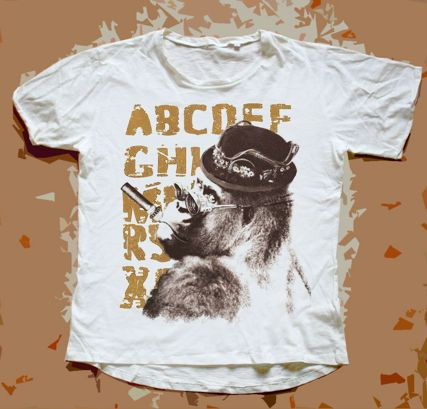 Steam Animals (GORGEOUS style) T-SHIRT: GORILLA (read description on website to know more about your right archetype)