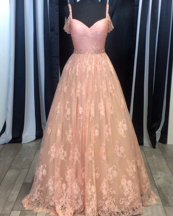 Lace Long Prom Dresses ,Popular Party Dress,Fashion Formal