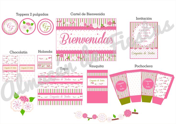 Grafica diseñada especialmente para #CompañíaDeFiestas Temática flores y sus combinaciones. #Flores