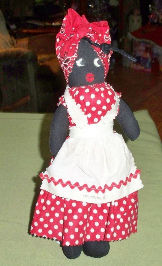 Vintage Black Mammy Cloth Souvenir New Orleans Doll