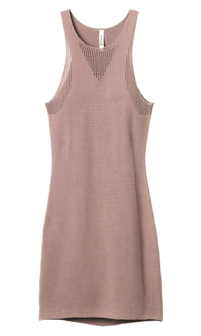 The Camino Cruisin Dress by RVCA is a sweater knit body con dress