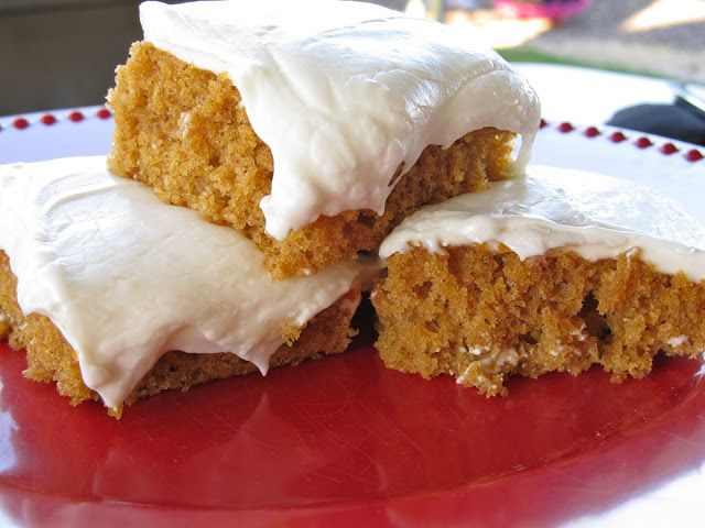 Paula Deen's Pumpkin Bars. Best recipe I have used yet and can even use Javi's Gluten free flour cup for cup each time.