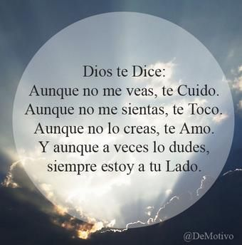 DIOS TE DICE: ......