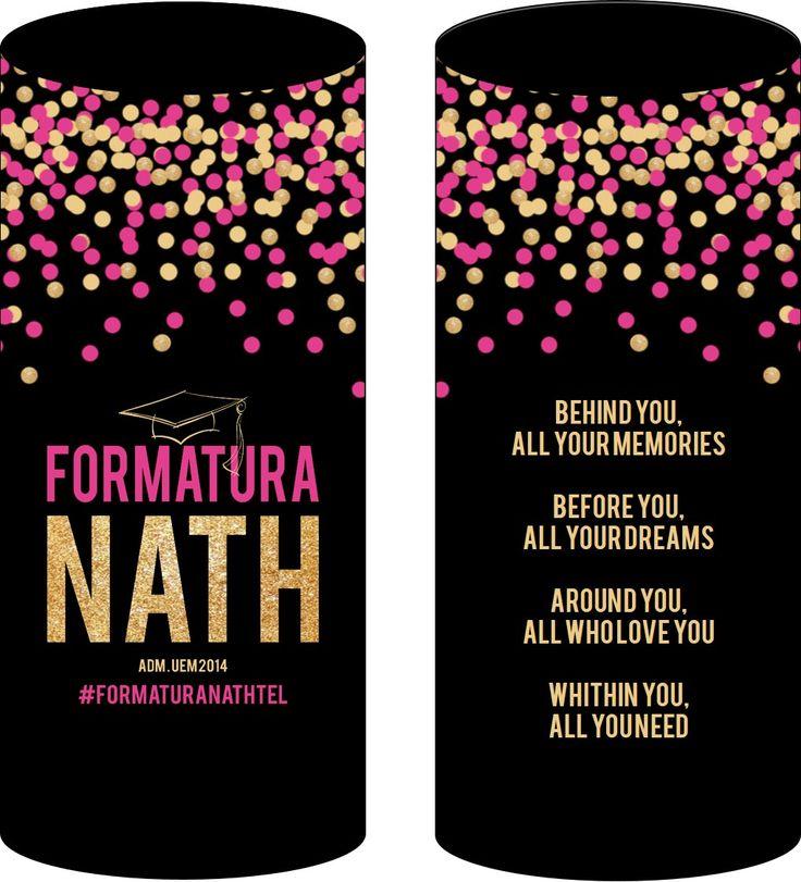 Layout dos copos personalizados #formatura