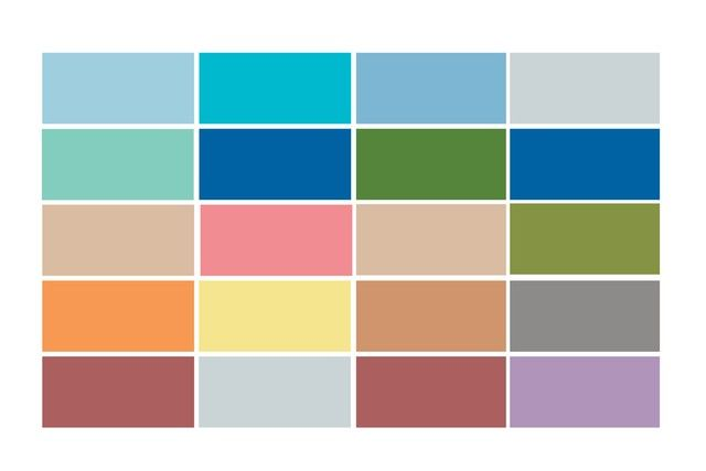 Pantone unveils the top 10 shades called upon for the women's and men's collections. [Courtesy Design]
