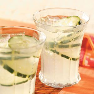 """Cucumber Punch :    """"I first tasted this at a ladies' luncheon, and it was the most unusual, refreshing drink I'd had. I've served it numerous times since and always get requests for the recipe."""" Renee Olson - Kendrick,"""
