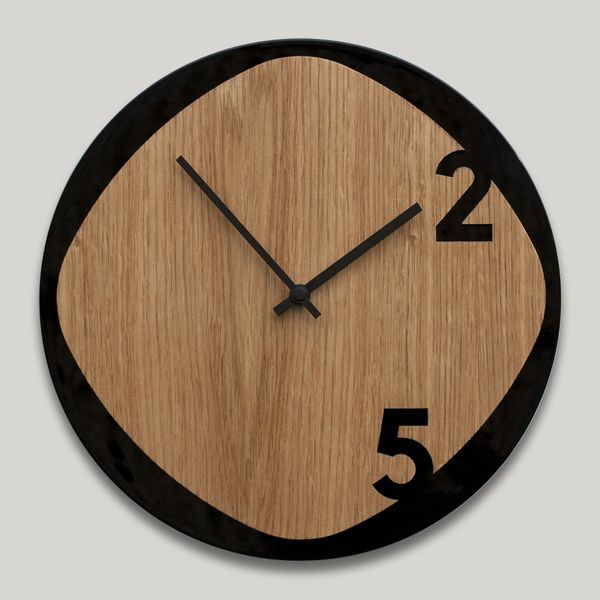 PRODUCTS :: LIVING AND DESIGN :: Accessories and Decorations :: Clocks :: Clocks on wall :: Clock25 Wood & Black