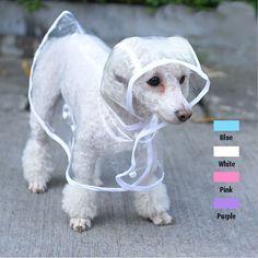 2015 moda para mascotas perro lluvia chaqueta de la capa ropa Puppy perros chubasquero impermeable transparente impermeable Rainsuit 4 colores Free & Drop Shipping en Chaquetas para perro de Casa y Jardín en AliExpress.com   Alibaba Group