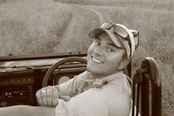 Tim Brown Conduction an open vehicle safari Tour