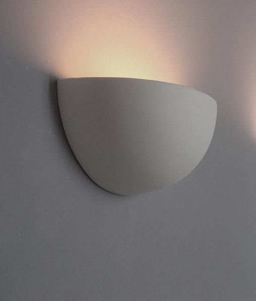Quarter Sphere Ceramic Wall Uplight for filament lamps
