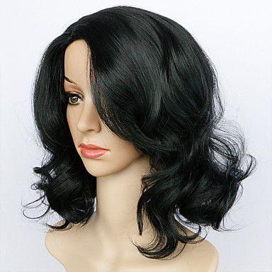 muoti synteettiset peruukit afrikkalainen amerikkalainen kihara musta lyhyt peruukit synteettisiä hiukset mustat naiset 5490303 2017 – hintaan €11.71