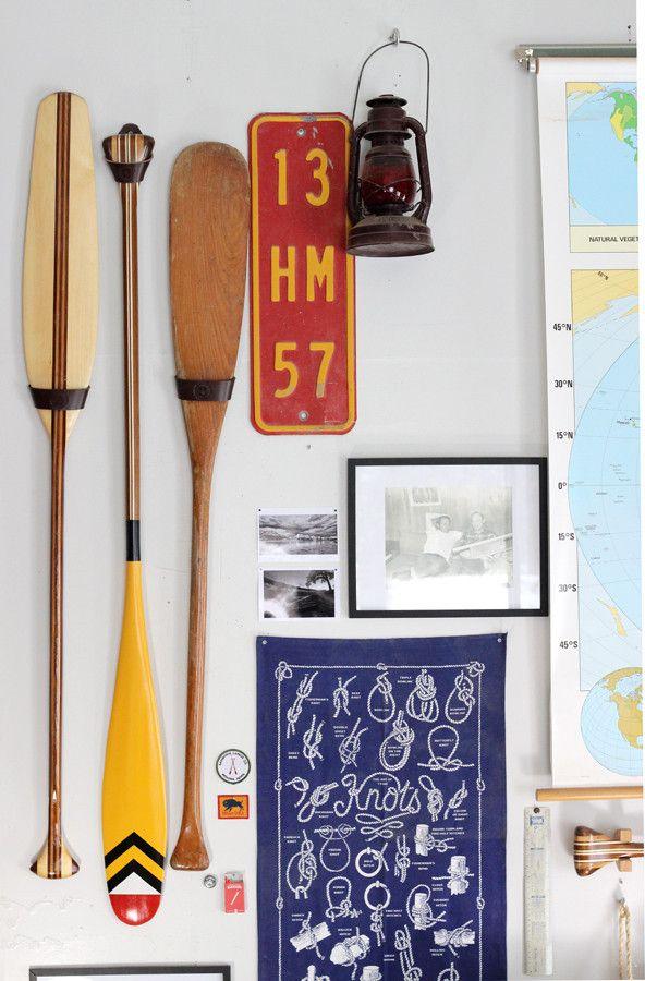 Leather Canoe Paddle Hanger - Sanborn Canoe Company - Made in the USA | Sanborn Canoe Co.