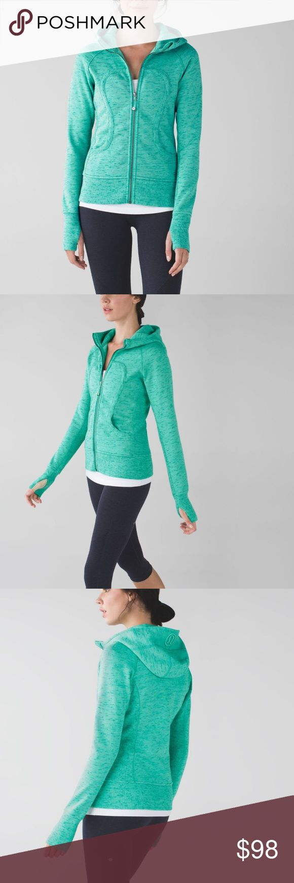 Lululemon scuba hoodie in heathered green In excellent condition with no rips or stains. Lululemon scuba hoodie II in heathered rainforest menthol. This one is sold out and super hard to find! The material is super soft and stretchy, not like the newer stiff scuba hoodies. Thanks for looking.💕 lululemon athletica Tops Sweatshirts & Hoodies