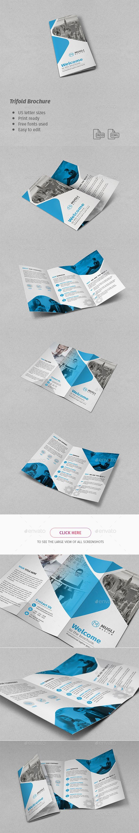 Corporate Trifold Brochure Template InDesign INDD #design Download: http://graphicriver.net/item/corporate-trifold-brochure/14221036?ref=ksioks