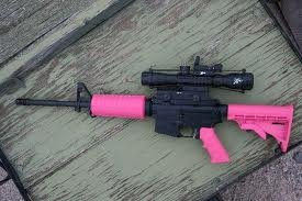 My next weapon purchase- pink AR-15