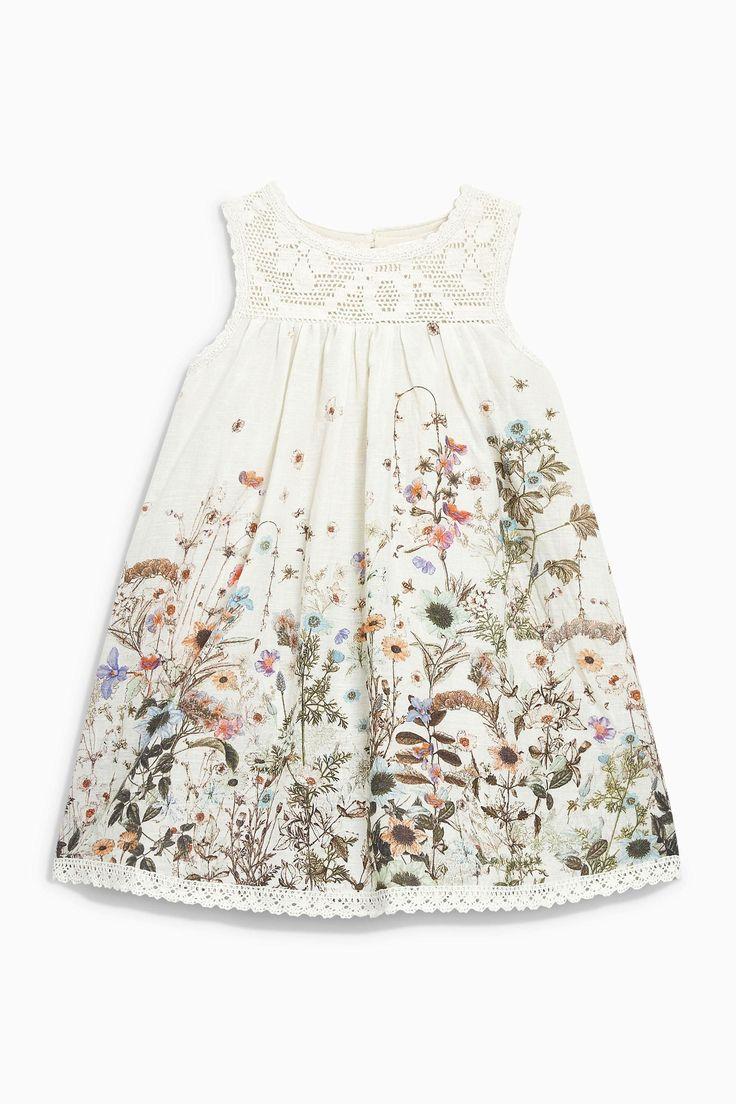 Lace Yoke Floral Printed Dress (3mths-6yrs) | Next USA