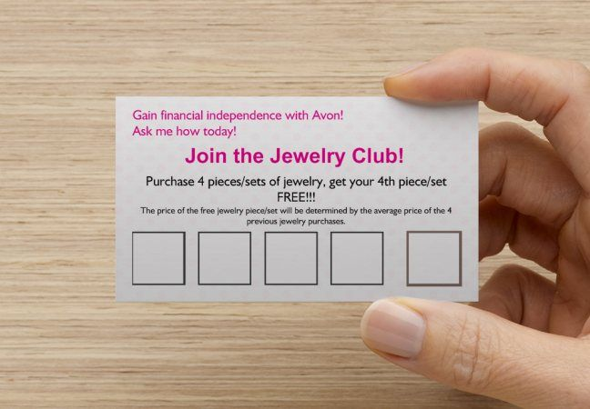 Avon Business cards and Avon ideas on Pinterest