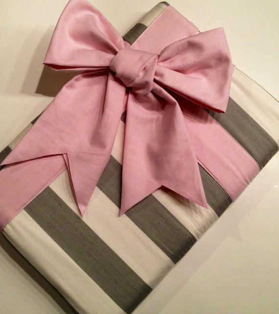 "WHY... Can't they have a 15""??? Macbook Pro 13 Sleeve MAC Macbook Air / Pro 13"" inch Laptop Computer Cover Case Grey Stripe Pink Gift Bow. $54.99, via Etsy."