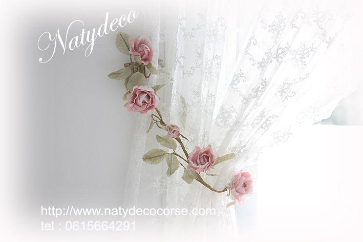 embrasse de rideau en fleur en vente sur http://www.natydecocorse.com