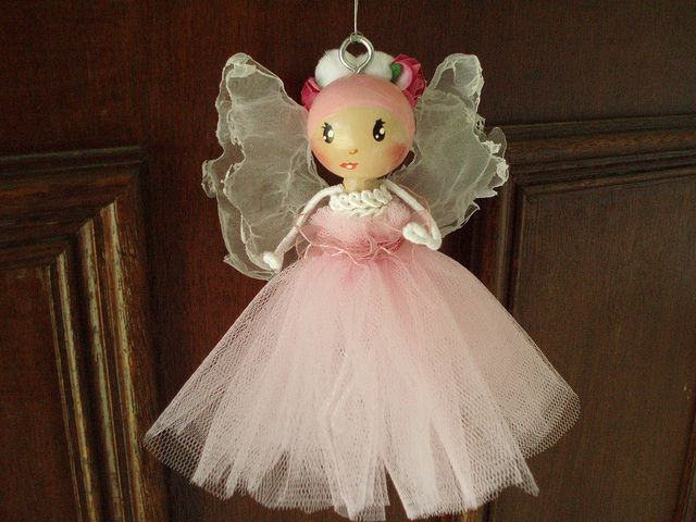 pink fairy jan 2011 by Clothespin Dolls By BraJul, via Flickr