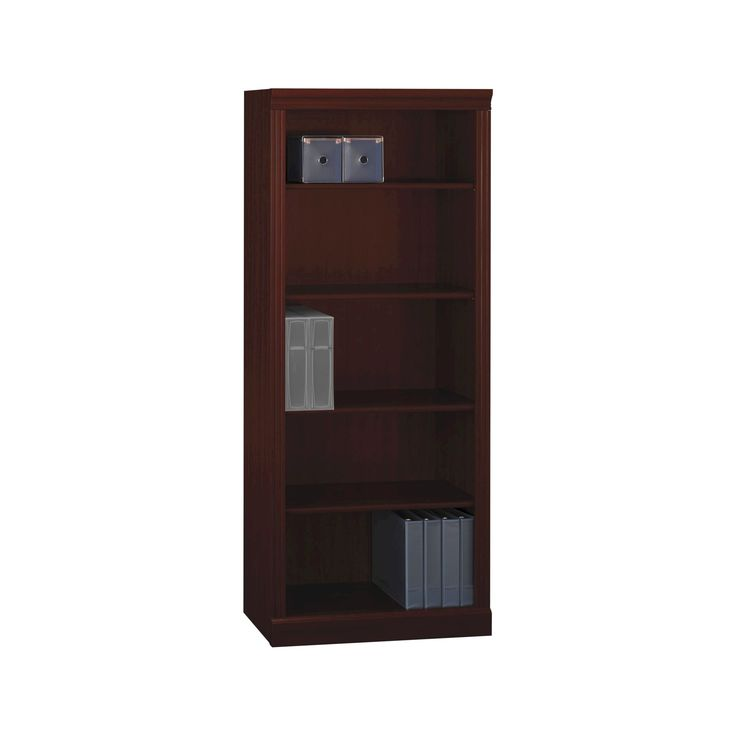 Bennington 5 Shelf Bookcase from kathy ireland Office by Bush Business Furniture, Red