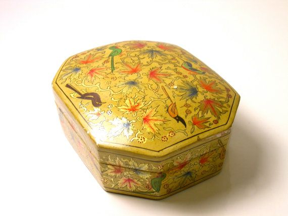 Vintage Hand Painted Box by WatchandWares on Etsy, $40.00