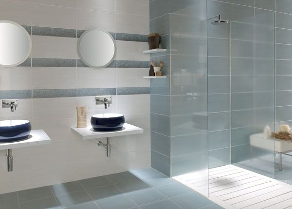Fox Blanco Azul Bathroom Wall Tile This Wall Tile Has A