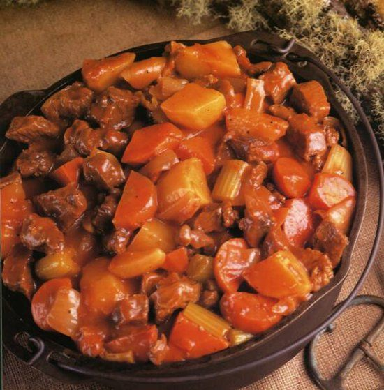 Camp dinner dutch oven beef stew recipes pinterest for Dutch oven camping recipes for two