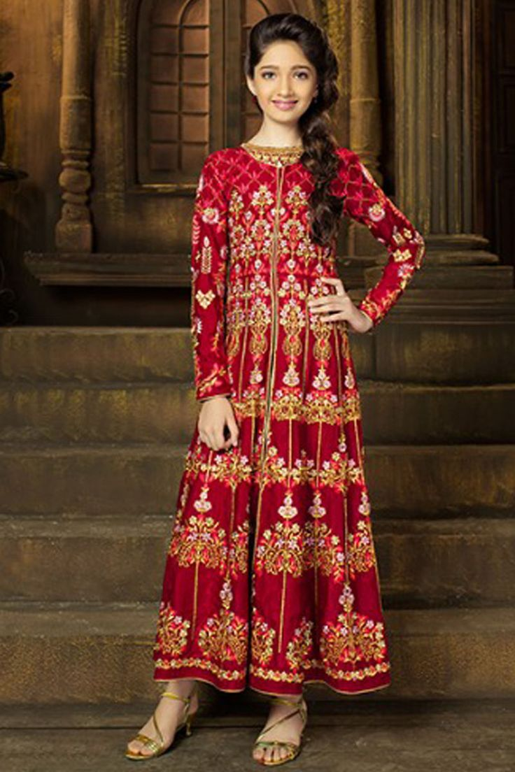 Maroon Color Fancy Attractive Jacket Style Velvet Fabric Designer Wear Traditional Embroidered Occasionally Stylish Pant Style Daughter Salwar Kameez #karma #motherdaughter #traditionalwear #daughterdresses #jacketstyle #fashion #dresses #weddingwear #partyweardress #weddingseason #designerdress #jacketstylesuit #silkdress #fancyfabrics #velvet #attractivewear #beautifuldresses #outfits #indianbride #bridestyle #usa #uk #saudi #france #germany #bangkok #banglore #canada #festivefashion