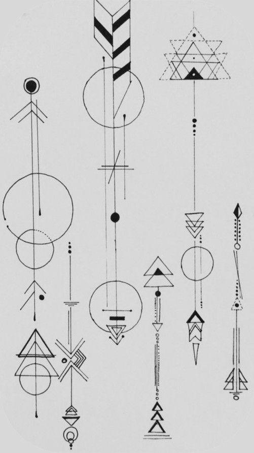 Tattoo • Geometric & Arrow • Designed by Dr. Woo •