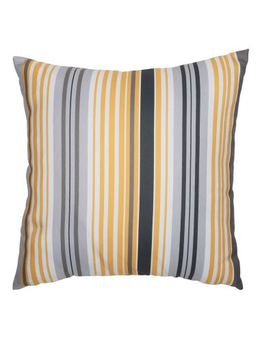The Darcy cushion features a pop of mustard and will bring a contemporary look to your living space.
