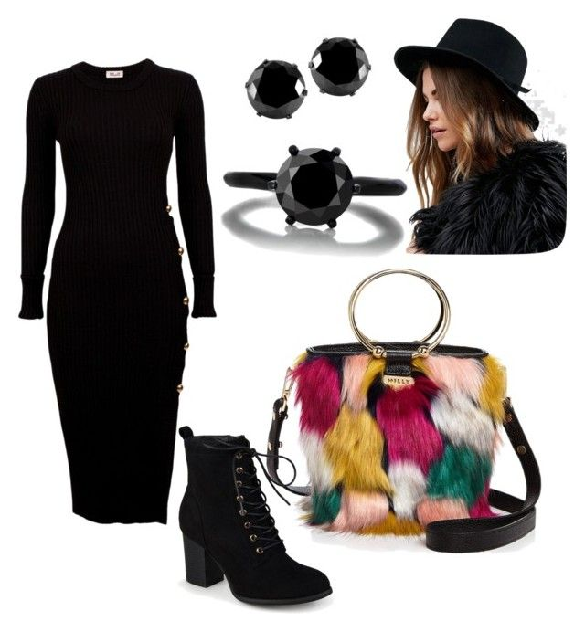 """""""All black for """"the bag"""""""" by gforfashion on Polyvore featuring Milly, Journee Collection, Brixton and West Coast Jewelry"""