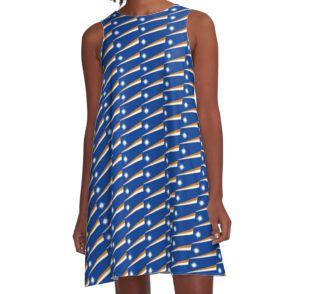 Marshall Islands Flag A-Line Dress