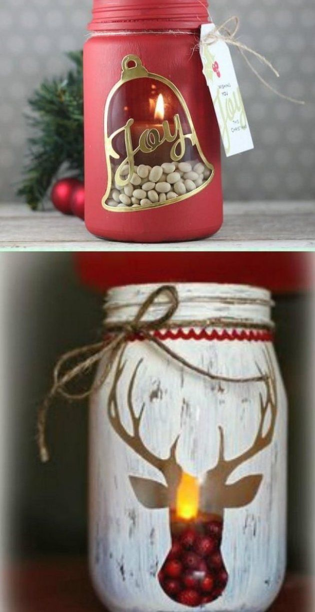 Diy Stenciled Mason Jar Candle Holder Christmas Lights Instruction Diy Christmas Mason Jar Lightin In 2020 Christmas Mason Jars Diy Christmas Mason Jars Christmas Diy