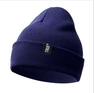 Letter True Casual Beanies for Men Women Fashion Knitted Winter Hat Solid Color Hip-hop Skullies Hat Bonnet Unisex Cap Gorro – Hat