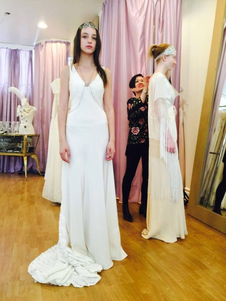 Designer dressing up the models for our big shoot todaywith Xequerê Xequerê #weddingdress #designer #fashion #wedding
