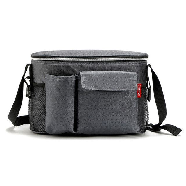 SANNEN 8L Oxford Thermal Lunch Bags for Women Adults Men Food Lunch Picnic Cooler Bag Insulated Storage Container W/ Bottle Bag