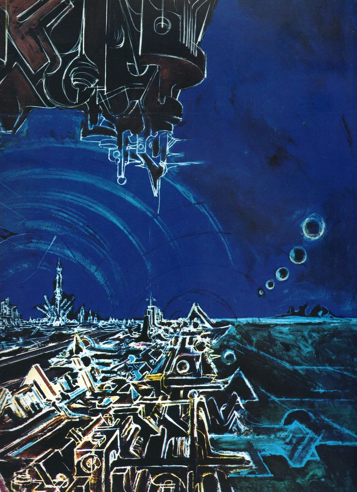 Dipinti di Romano Botti - La città futura particolare