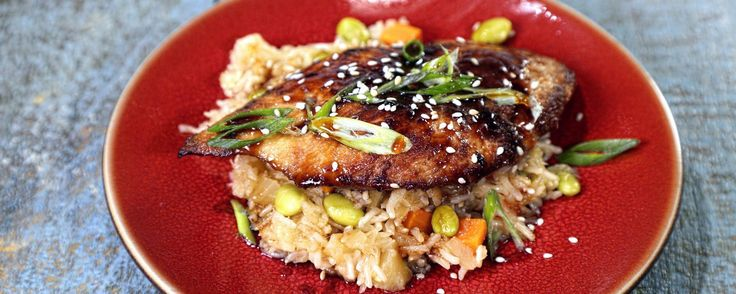 Chicken Teriyaki with Pineapple and Edamame Rice   Don't miss out on this easy-to-make chicken dish for your weeknight dinners!