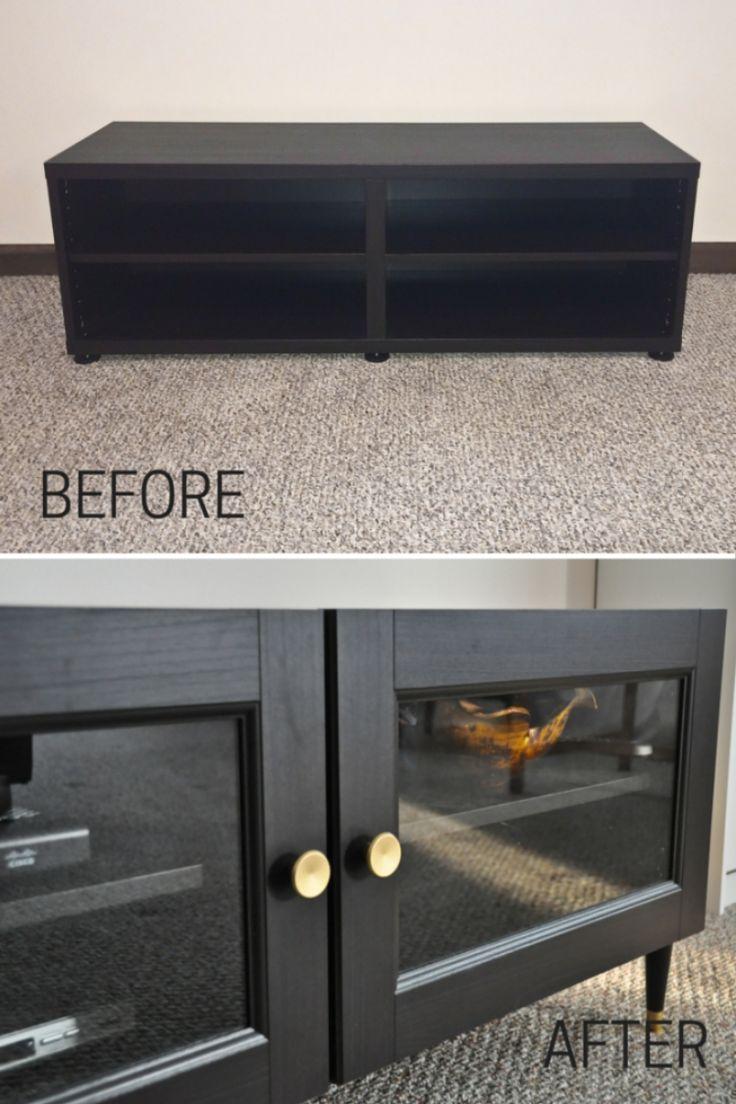 Ikea Besta Regal Aufbewahrungssystem  Schwarz Sideboard Vitrine Schrankfronten