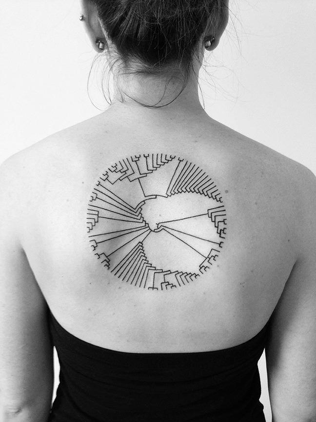 Minimalist Tattoo on Girl's Back