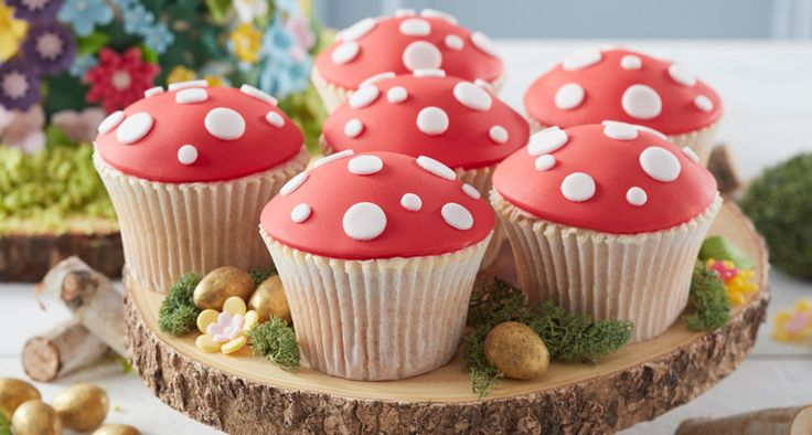 Pretend you're dancing with the fairies among the spring flowers, while you chomp on these yummy toadstool cupcakes! Great for a bit of alternative Easter baking, or a fairy themed party, they are so easy to make and perfect for kids to try their hand at too.