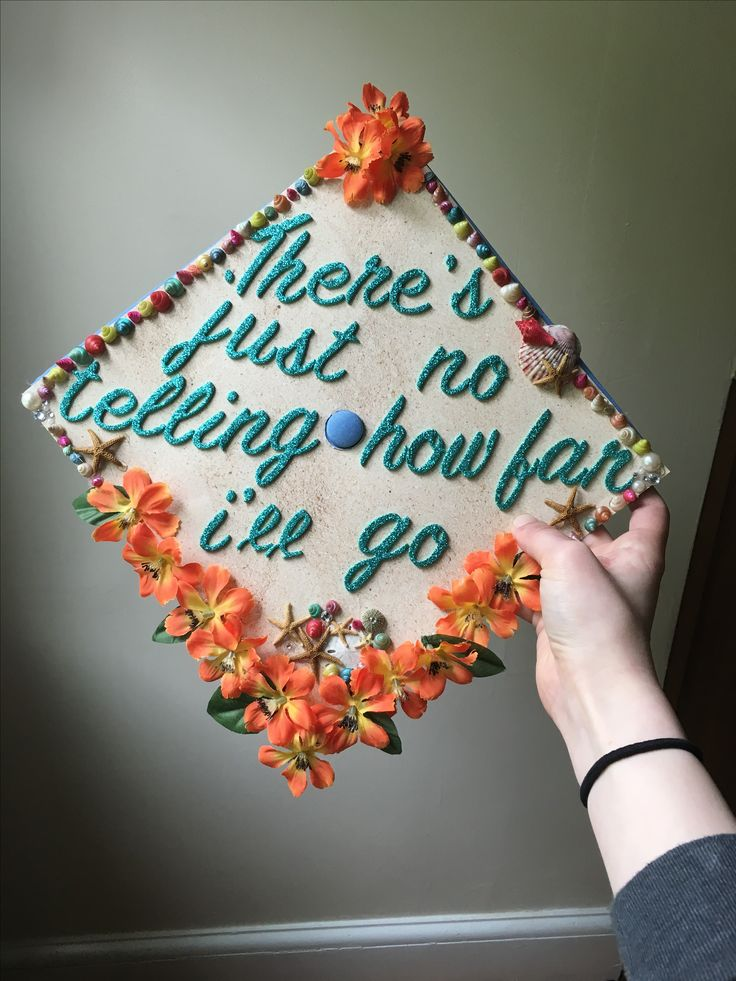 Disney Graduation Cap, Moana. A friend commissioned me to make this!